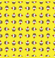 yellow background cupcake seamless pattern vector image vector image