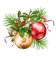 christmas festive decoration vector image