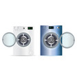 3d realistic washers washing machine isolated on vector image