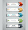 5-step banner for business infographics vector image