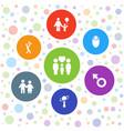 7 boy icons vector image vector image