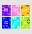 abstract memphis style element banner ad poster vector image vector image