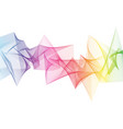 abstract rainbow sharp wave vector image vector image