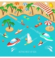 Active rest at sea concept vector image vector image