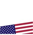 american flag symbols background border vector image vector image