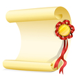 An empty sheet of paper with a ribbon vector image vector image