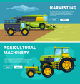 banners set with of agricultural vector image vector image