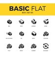 Basic set of box icons vector image vector image
