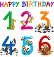 Birthday Anniversary cartoons set vector image vector image