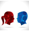 blue men and red women vector image vector image