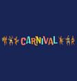brazil carnival of funny vector image vector image
