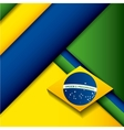 brazil stamp design vector image
