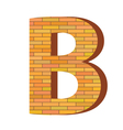 brick letter B vector image