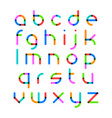 bright color font vector image vector image