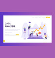 business data analysis research landing page vector image vector image