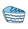 cake delicious dessert vector image vector image