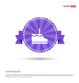 cake icon - purple ribbon banner vector image