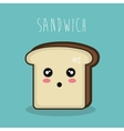 cartoon character sandwich icon design vector image