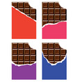 collection of chocolate bars vector image vector image