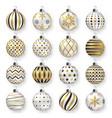 colorful glossy christmas balls with shadows set vector image vector image
