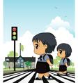 crosswalk vector image vector image