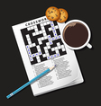 Crossword Coffee vector image vector image