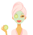 Cucumber mask vector image vector image