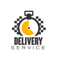 delivery service logo design template vector image vector image