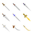 design of sword and dagger logo collection vector image vector image