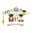 Graduation Award Elements Concept vector image vector image