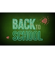 Green board with text on chalkboard vector image vector image