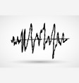 hand drawn sound waves marker or brush ink vector image