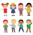 happy kids cartoon collection vector image vector image