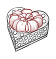 heart shaped gift icon holiday romantic box vector image