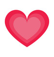 icon concept of love red vector image vector image