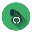 Icon of portable circle macro flash vector image vector image