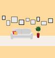 interior template in gallery or photo exhibition vector image vector image