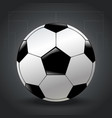 isolated realistic football design on gray vector image vector image