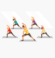 kids fitness vector image