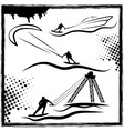 kite and cable wakepark vector image