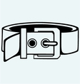 Leather belt for men vector image vector image