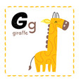 letter g funny alphabet for young children vector image
