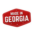 made in georgia label or sticker vector image vector image