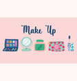 makeup cosmetics product fashion beauty cream vector image vector image