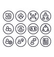 management human resources hr line icons vector image vector image