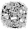 medicine cartoon doodle design vector image vector image