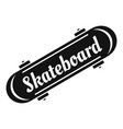 old skateboard logo simple style vector image