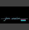 online jam session black web banner background vector image vector image