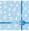 Pattern Merry Christmas in blue colors vector image