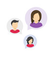people discussion speech bubbles messages as vector image